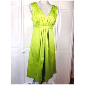 🆕 LIME GREEN FIT AND FLARE DRESS
